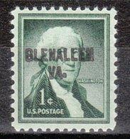 USA Precancel Vorausentwertung Preo, Locals Virginia, Glenallen L-1 HS - Vereinigte Staaten