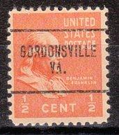 USA Precancel Vorausentwertung Preo, Locals Virginia, Gordonsville 704 - Vereinigte Staaten