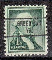 USA Precancel Vorausentwertung Preo, Locals Virginia, Green Bay 734 - Vereinigte Staaten