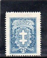 LITUANIE 1927 * FILIGRANE C - Lituanie