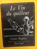 8900 - Le Vin Du Quilleur Suisse Croix Duplex Pinot Gamay Jean Vogel - Etiquettes