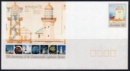 Australia 1990 Lighthouse Service, Cape Borda, Stationery Envelope, Ref. 122 - Lighthouses