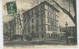 "NICE - ""BRITANNIA & STANISLAS HOTEL "" 17, Bld Victor Hugo - Cafés, Hotels, Restaurants"
