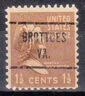 USA Precancel Vorausentwertung Preo, Locals Virginia, Grottoes 721 - Vereinigte Staaten