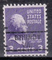 USA Precancel Vorausentwertung Preo, Locals Virginia, Grundy 729 - Vereinigte Staaten