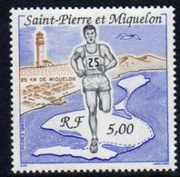 St. Pierre & Miquelon SPM 1990 25km Race With Lighthouse, Ref. 123 - Lighthouses