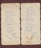 MENU - (2 - Un Couple) - Deux Menu Du Samedi 1er Août 1936 - Ouverture Des Jeux Olympiques à Berlin - Voir 4 Scannes - Menus