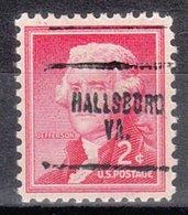 USA Precancel Vorausentwertung Preo, Locals Virginia, Hallsboro 704 - Vereinigte Staaten