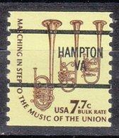 USA Precancel Vorausentwertung Preo, Bureau Virginia, Hampton 1614-87 - Vereinigte Staaten