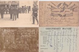 Bs - Lot De 32 Photos Et CP Militaires (toutes Scannées) - Guerre, Militaire