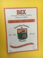8903 -  Réserve Association Vaudoisede Pétanque 1957-1997 Suisse Bex - Etiquettes