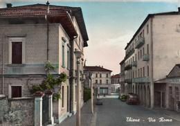 THIENE-VICENZA-VIA ROMA-CARTOLINA VERA FOTOGRAFIA VIAGGIATA 27-10-1958 - Vicenza