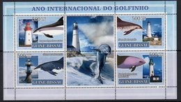 Guinea Bissau 2007 Dolphins & Lighthouses Sheetlet Of 4, Ref. 129 - Lighthouses