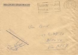Belgie Belgique 1961 Turnhout To Bureaux Postales Secondaires BSP7 Weiden Military Unfranked Official Cover - Postmark Collection
