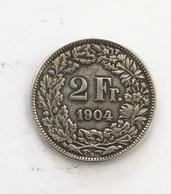2 Francs Argent 1904B - Suisse