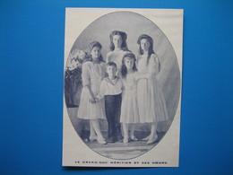 (1914) La Famille ROMANOV : Le Grand-Duc Héritier Alexis Et Ses Soeurs Olga, Tatiana, Maria Et Anastasia - Historical Documents