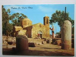 CP Chypre  Cyprus  -  PAPHOS -st Paul 's Pillar   - Ile De Pafos , Près De L'église De Chrysopolitissa - Chypre