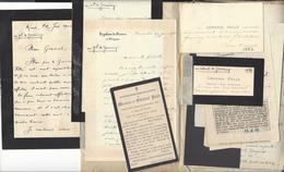 GENERAL PELLE Et Famille  Lettres , Cdv  , Notes Diverses (  école Polytechnique , ... ) - Old Paper