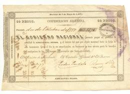 ASSIGNAT DE 50 PESOS 2 OCTOBRE 1857 - Argentine