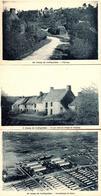 3 CPA Camp De Coëtquidan - Ce Qui Reste Du Village De L'Epinay & Vue Aérienne Du Camp - France