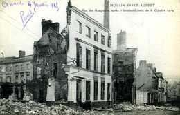 Guerre 14 18 : Beuvry (62) Moulin Saint Aubert R Gauguiers Après Le Bombardement Du 6 Octobre 1914 - Guerra 1914-18
