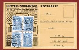 Infla Ab 1. Aug. 1923 Ausland Postkarte 1.200 Kr. - 1918-1945 1st Republic
