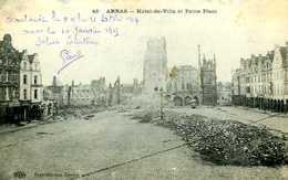 Guerre 14 18 : Arras (62) Hôtel De Ville Et Petite Place - Guerra 1914-18