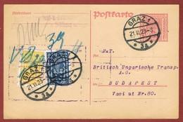 Infla Ab 1. Aug. 1923 Ausland Postkarte Sondertarif 900 Kr. - 1918-1945 1st Republic