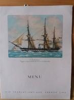 3 Anciens Menus CieTransatlantique SS De Grasse - 1948 - 1ere Classe - Dont 1 Spécial Pour Le 14 Juillet - Menus
