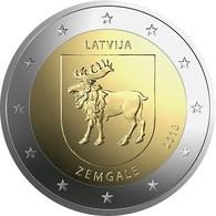 Letonia 2euro Cc - Região Zemgale - 2018 Nova - Lettonie