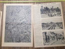 ANNEES 20/30 LES TROUBLES DE DAMAS SYRIE GARE BARAMKE RUE MEIDAN SOUKS MOSQUEE - Collections