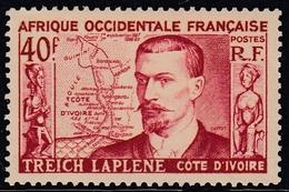 French West-Africa AOF 1952 - Marcel Treich Lapiene, Map - Mi 63 ** MNH - A.O.F. (1934-1959)