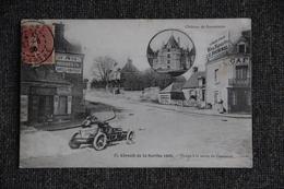 Circuit De La SARTHE, 1906 - Virage à La Sortie De Connerré ( En Médaillon : Château De Bonnétable ). - Connerre