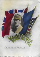 CHARLES DE GAULLE, Sur Carte Postale écrite Le 20 Mars 1945 - TB - Politicians & Soldiers