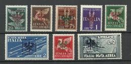 DEUTSCHLAND 1944 Occupation LAIBACH Michel 21 - 28 MNH/MH (Mi 21-23 Sind MNH/**) - Occupation 1938-45