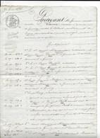 GUERCHY AILLANT YONNE ME RAVIN NOTAIRE VENTE MARCHAUCHE MASSE SOUCHET 1838 - Historical Documents