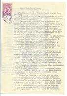 DOCUMENT AVEC TIMBRE DE DIMENSION DU LUXEMBOURG OBLITERE CLERVAUX 1936 - Fiscaux