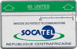 Central African Rep. - Socatel - L&G Optical - Socatel Logo - 1990, 60U, Cn.207A, Used - Central African Republic
