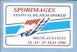 Migné-Auxances (86) Sporimages Festival Du Film Sportif 18 Au 25 Mai 1986 - 2 Scans - Autocollants