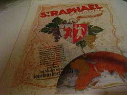 ANCIENNE PUBLICITE GRAND VIN DE FRANCE ST RAPHAEL 1940 - Alcohols
