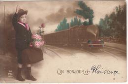 Train ,Enfant  Un Bonjour De Plaisance - Schienenverkehr