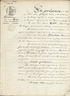 CHEROY YONNE ME GUYOT NOTAIRE QUITTANCE RIOT GOURDET 1838 - Historical Documents