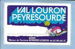 Bordères-Louron (65) Val Louron Peyresourde Maison Du Tourisme 2 Scans Enfant Sur Skis Sourire - Stickers