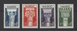 MAROC. YT  315/318  Neuf **  En Faveur De La Campagne De Solidarité Franco-marocaine. Chapiteaux Divers  1952 - Unused Stamps
