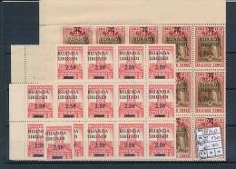 BELGIAN CONGO  RUANDA URUNDI 1941 ISSUE COB 119/120 X30 MNH - Ruanda-Urundi