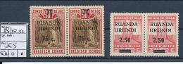 BELGIAN CONGO  RUANDA URUNDI  1941 ISSUE COB 119/120 X2 MNH - Ruanda-Urundi