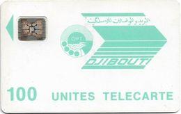 Djibouti - OPT - Light Blue Logo - 100Units, SC4 Afnor, 1991, Cn.36235 (without Frame Around Chip), Used - Djibouti