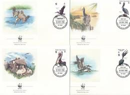 1988 - Virgin Islands - Pelikane Auf Illustrierten U1 FDC's - Pelicans