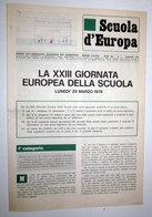 LA XXIII GIORNATA EUROPEA DELLA SCUOLA ASSOCIATION EUROPEENNE DES ENSEIGNANTS - Collections