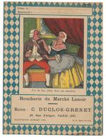 PROTEGE-CAHIER - J'ai Du Bon Tabac Dans Ma Tabatière - Boucherie Du Marché Lenoir - Maison C. Duclos Grenet - Paris - Protège-cahiers